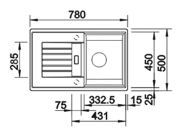 Obrázek galerie pro produkt Blanco ZIA 45 S Silgranit šedá skála /518937/ + DÁREK, Kuchyňský dřez (bez excentru)