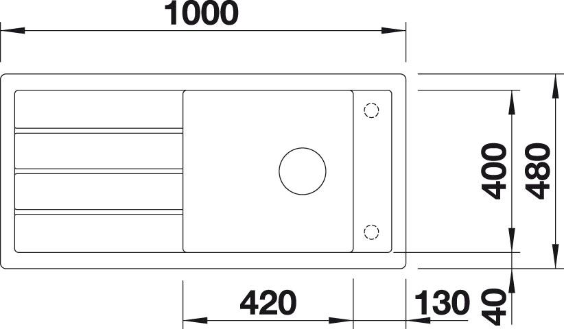 Obrázek galerie pro produkt Blanco MEVIT XL 6 S Silgranit PuraDur II antracit /518354/ + DÁREK, Granitový jednodřez s odkapem