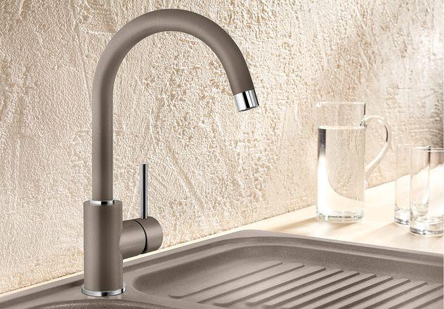 Obrázek galerie pro produkt Blanco MIDA kávová /519423/ + DÁREK, Dřezová baterie bez sprchy