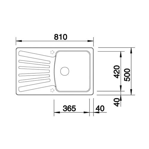 Obrázek galerie pro produkt Blanco NOVA 45 S antracit /510442/ + DÁREK, Kuchyňský jednodřez s odkapem (bez excentru)