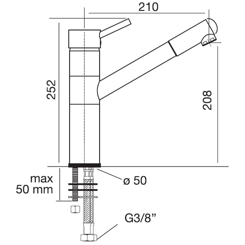 Obrázek galerie pro produkt CM 9205 CHROM Stojanová baterie se sprchou