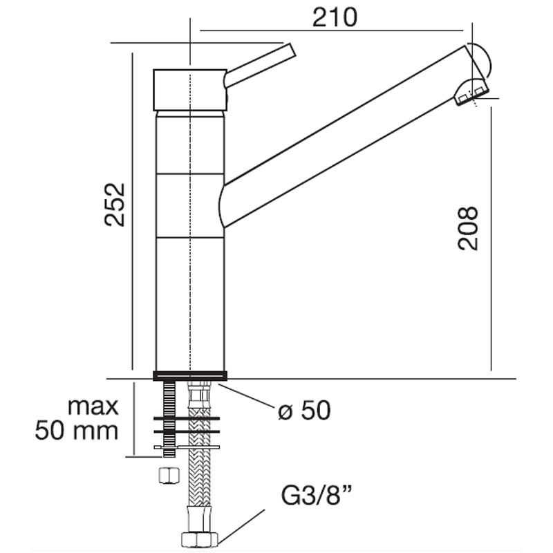 Obrázek galerie pro produkt CM 9300 CHROM Dřezová baterie stojanová (chrom)