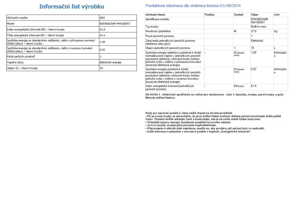 Obrázek galerie pro produkt AEG BSK988330M Vestavná parní trouba STEAMBOOST