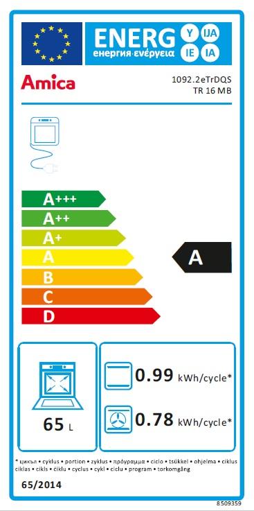 Obrázek galerie pro produkt Amica TR 16 MB černá + AKCE, Retro vestavná trouba v barvě antracitová