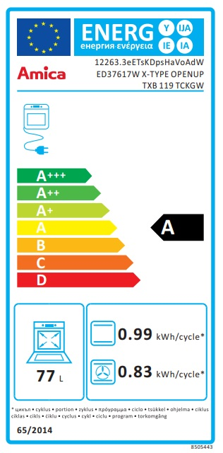 Obrázek galerie pro produkt Amica TXB 119 TCKGW + AKCE, Vestavná horkovzdušná trouba X-type bílá, OpenUp