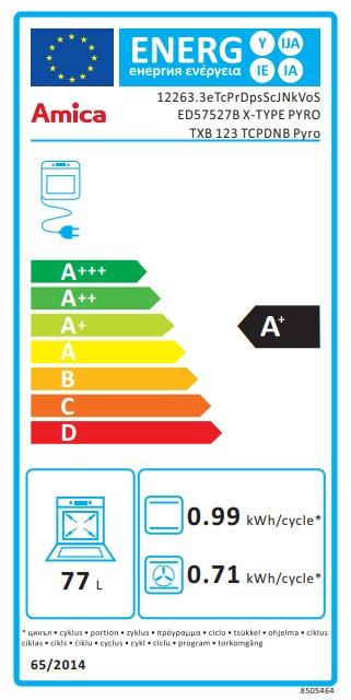 Obrázek galerie pro produkt Amica TXB 123 TCPDNB PYRO + AKCE, Vestavná trouba X-type černá, pyrolýza, katalyzátor zápachu