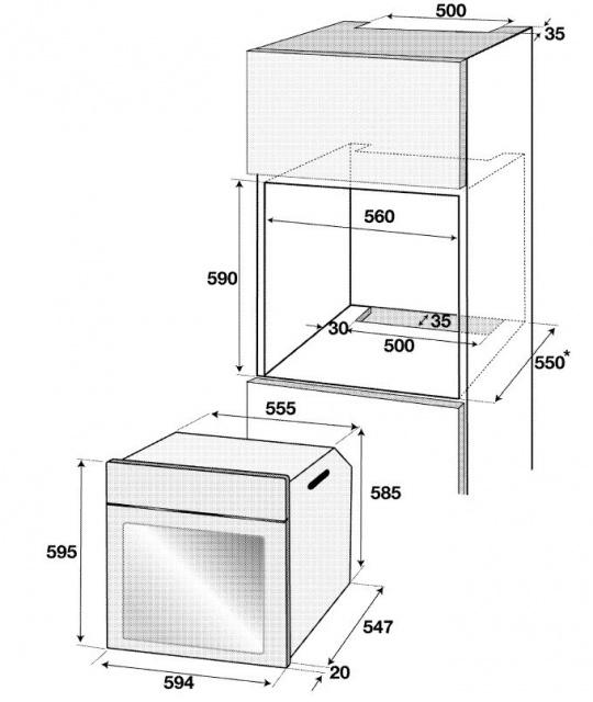 Obrázek galerie pro produkt BEKO BIM 35401 XMS Multifunkční trouba s dotykovým ovládáním