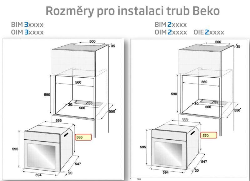 Obrázek galerie pro produkt Beko BIM25801XMS Horkovzdušná trouba Beko Chef, Teleskopický výsuv, SteamHealth