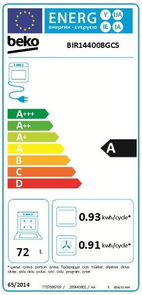 Obrázek galerie pro produkt BEKO BIR14400BGCS Surf černá Multifunkční trouba s grilem, SoftClose, Katalytické čistění