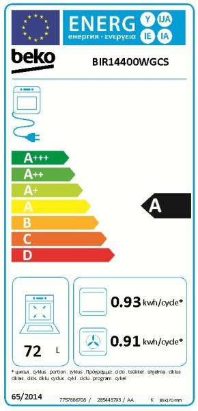 Obrázek galerie pro produkt Beko BIR14400WGCS Surf bílá Multifunkční trouba s grilem, SoftClose, Katalytické čistění