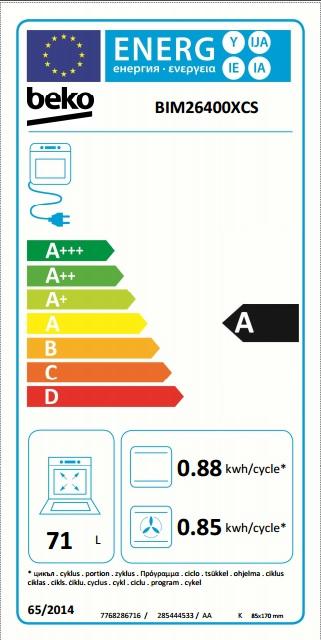 Obrázek galerie pro produkt Beko BIM26400XCS + AKCE, Multifunkční trouba nerez s grilem, Katalytické čištění