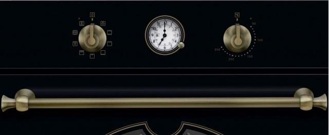 Obrázek galerie pro produkt Electrolux EOA5220AOR 600 FLEX SurroundCook Retro trouba černá, Katalytické čištění, Teleskopické výsuvy