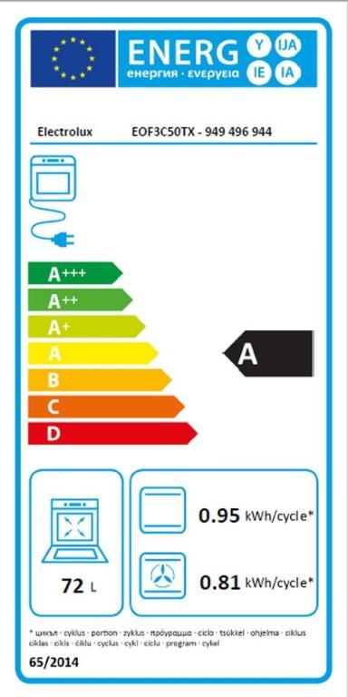 Obrázek galerie pro produkt Electrolux EOF3C50TX 600 FLEX SurroundCook Vestavná trouba nerez, Katalytické čištění