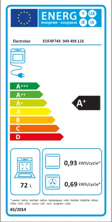 Obrázek galerie pro produkt Electrolux EOF4P74X 600 FLEX SurroundCook Vestavná trouba nerez, Pyrolytické čištění