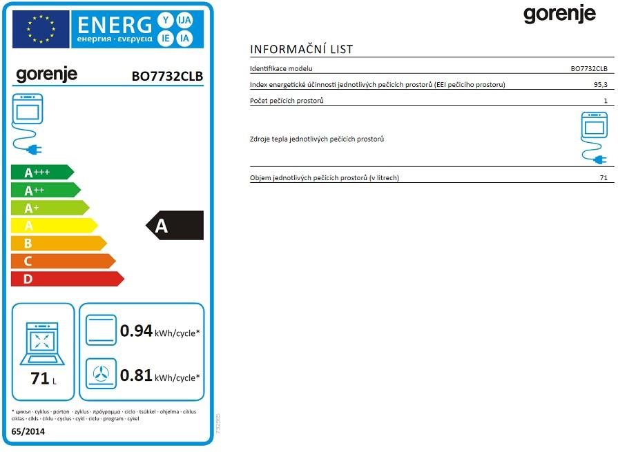 Obrázek galerie pro produkt Gorenje BO7732CLB Classico Retro vestavná trouba černá, GentleClose, AquaClean
