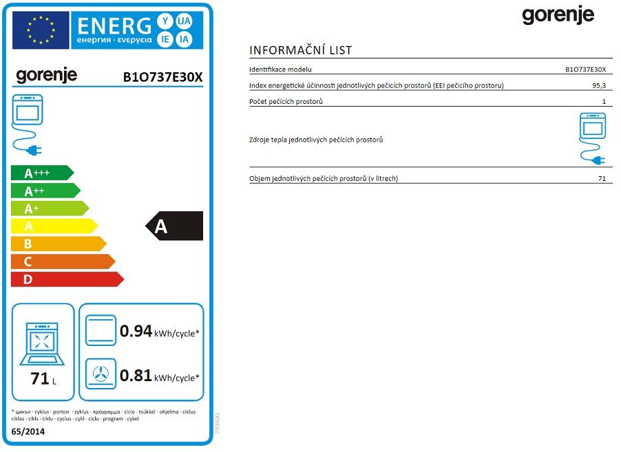 Obrázek galerie pro produkt Gorenje B1O737E30X Essential Vestavná horkovzdušná trouba nerez, IconLed, AquaClean, GentleClose