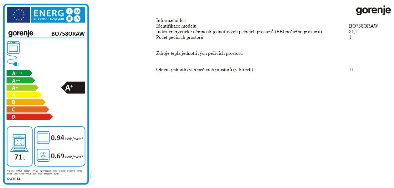 Obrázek galerie pro produkt Gorenje BO758ORAW ORA-ITO II Vestavná trouba bílá, DirecTouch